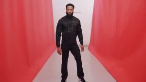 Black Billboard jacket. Black Fitness pant.