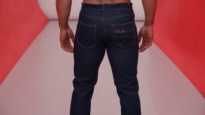 Dark indigo 4-stripe jean.