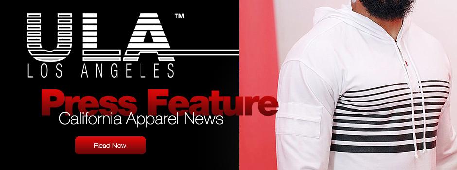 ULA Mens featured at the California Apparel News