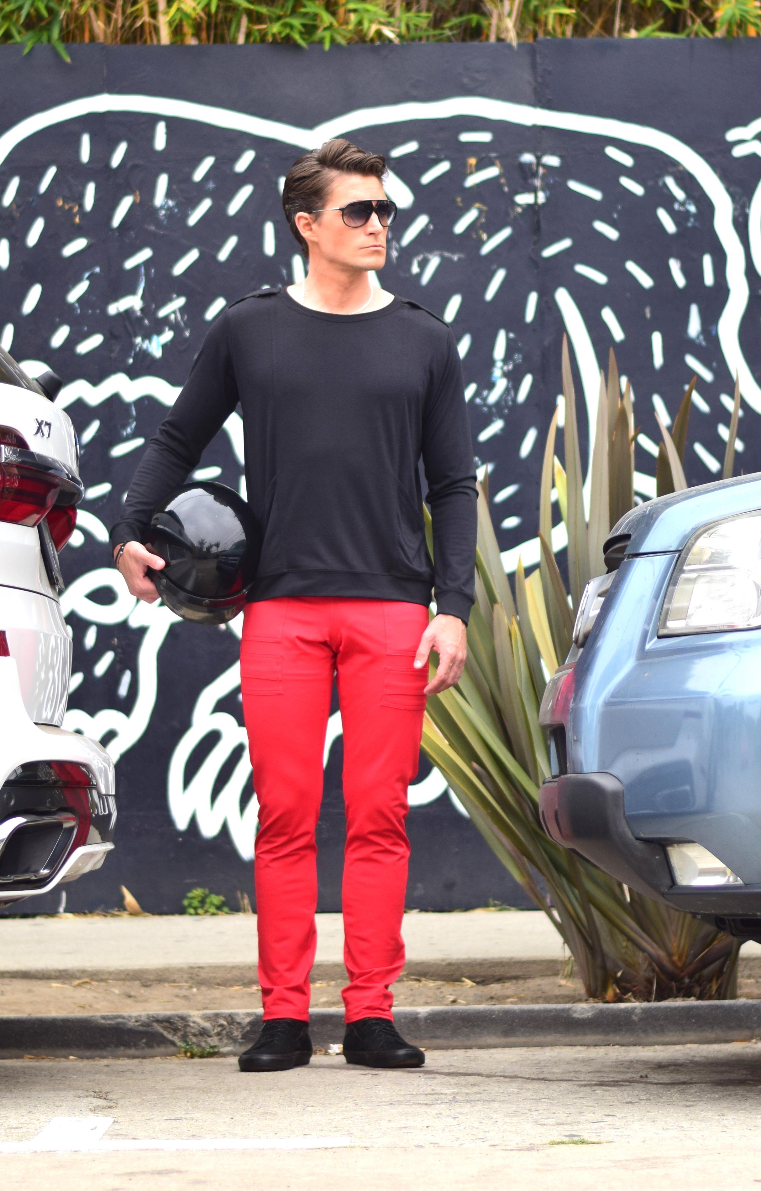 ULA TRACK PANT RED